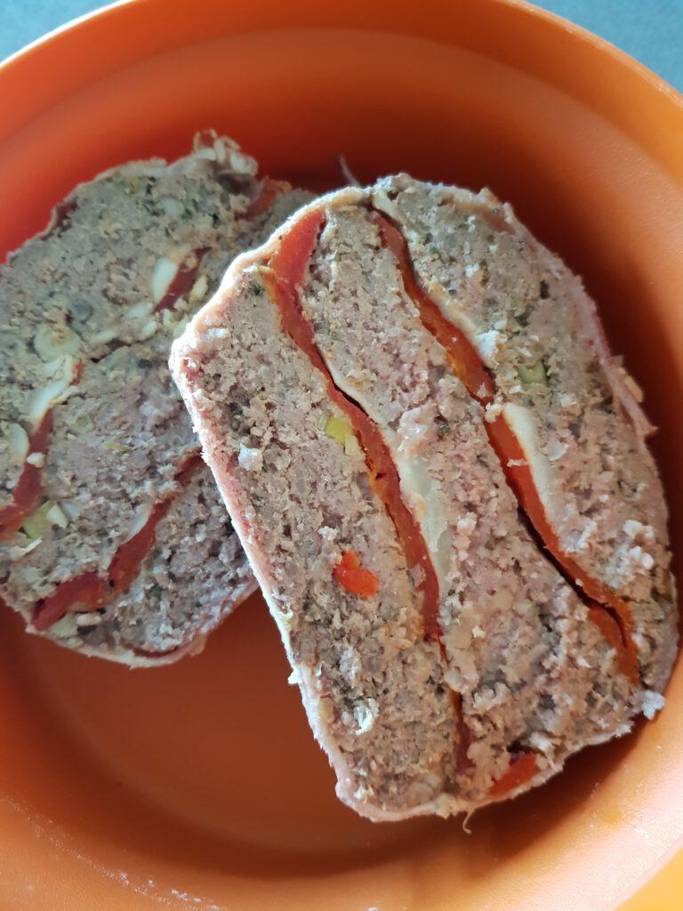 Gehaktbrood in plakken